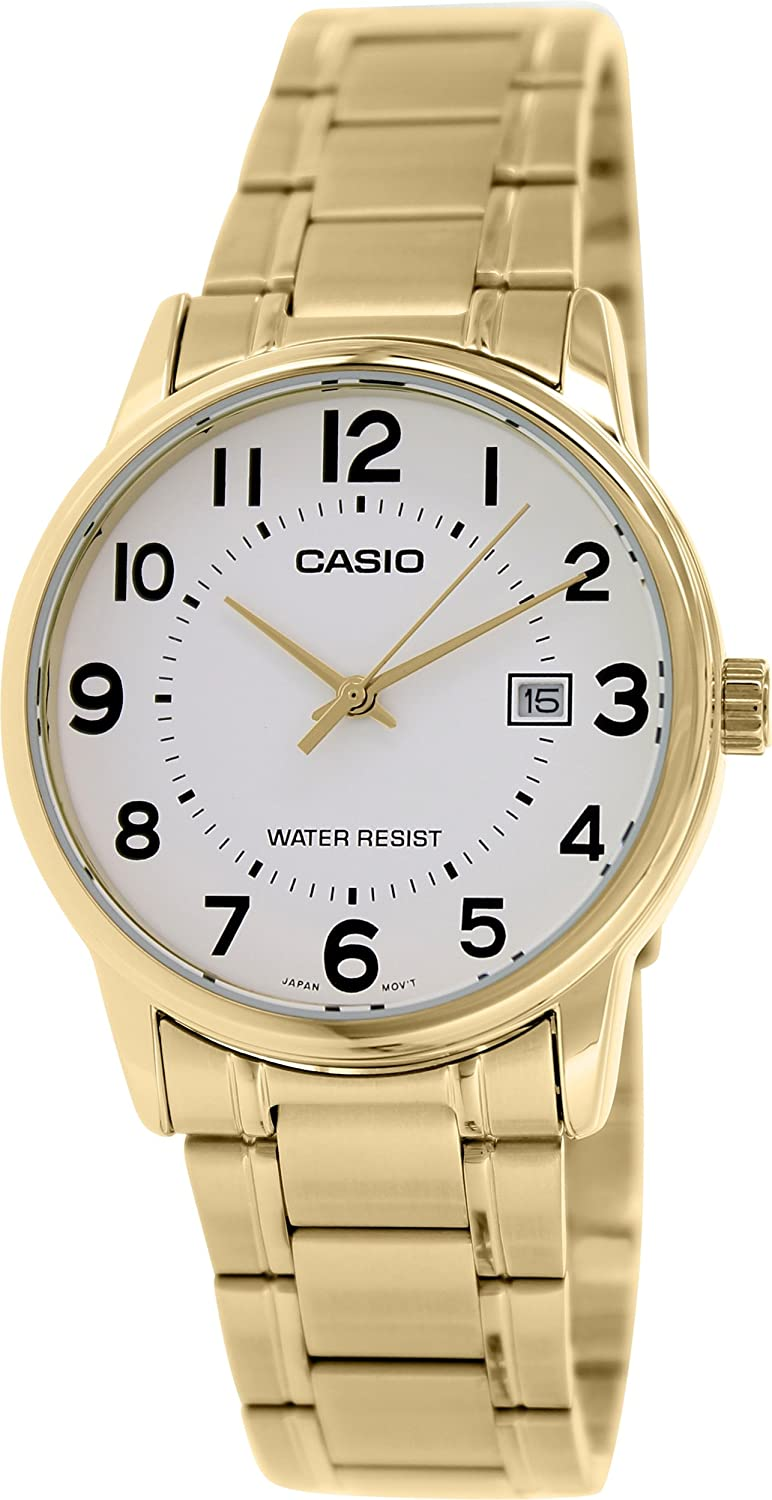 e7ad7c418 Amazon.com: Casio #MTP-V002G-7B Men's Standard Analog Gold Tone Stainless  Steel Date Watch: Casio: Watches