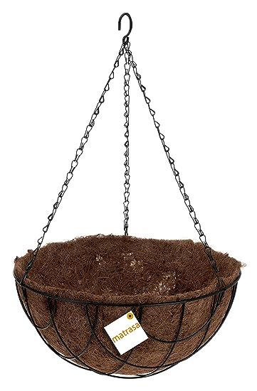 Blumenampel rund mit Kokosfaser Matte - Hängekorb - Pflanzenampel ...