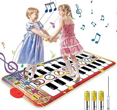 Vimzone Alfombrilla Musical para Piano, Alfombrilla para Piano para niños, Teclado táctil, alfombras Musicales, Alfombrilla de Baile, Juguetes ...