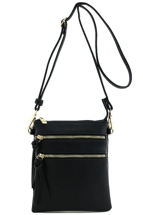Functional Multi Pocket Crossbody Bag (BLACK)