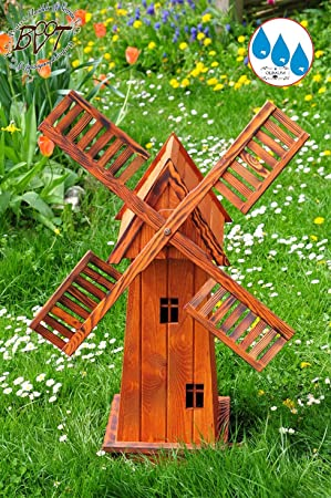 Large Wooden Windmill 4eckig Large Garden Windmill Large 40 Classic With  Balcony Trim, E6CK100 NG