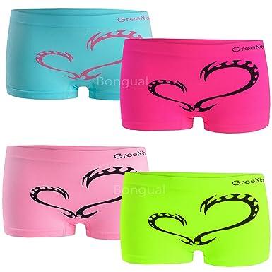 7fcc9f0504 4 St Damen Panties Seamless Hipster Panty Hotpants Boxershorts Microfaser  Herz 36-38 (S/M): Amazon.de: Bekleidung