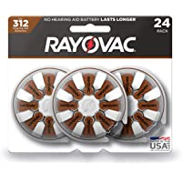 Rayovac Hearing Aid Batteries Size 312 for Advanced Hearing Aid Devices (24 Count)