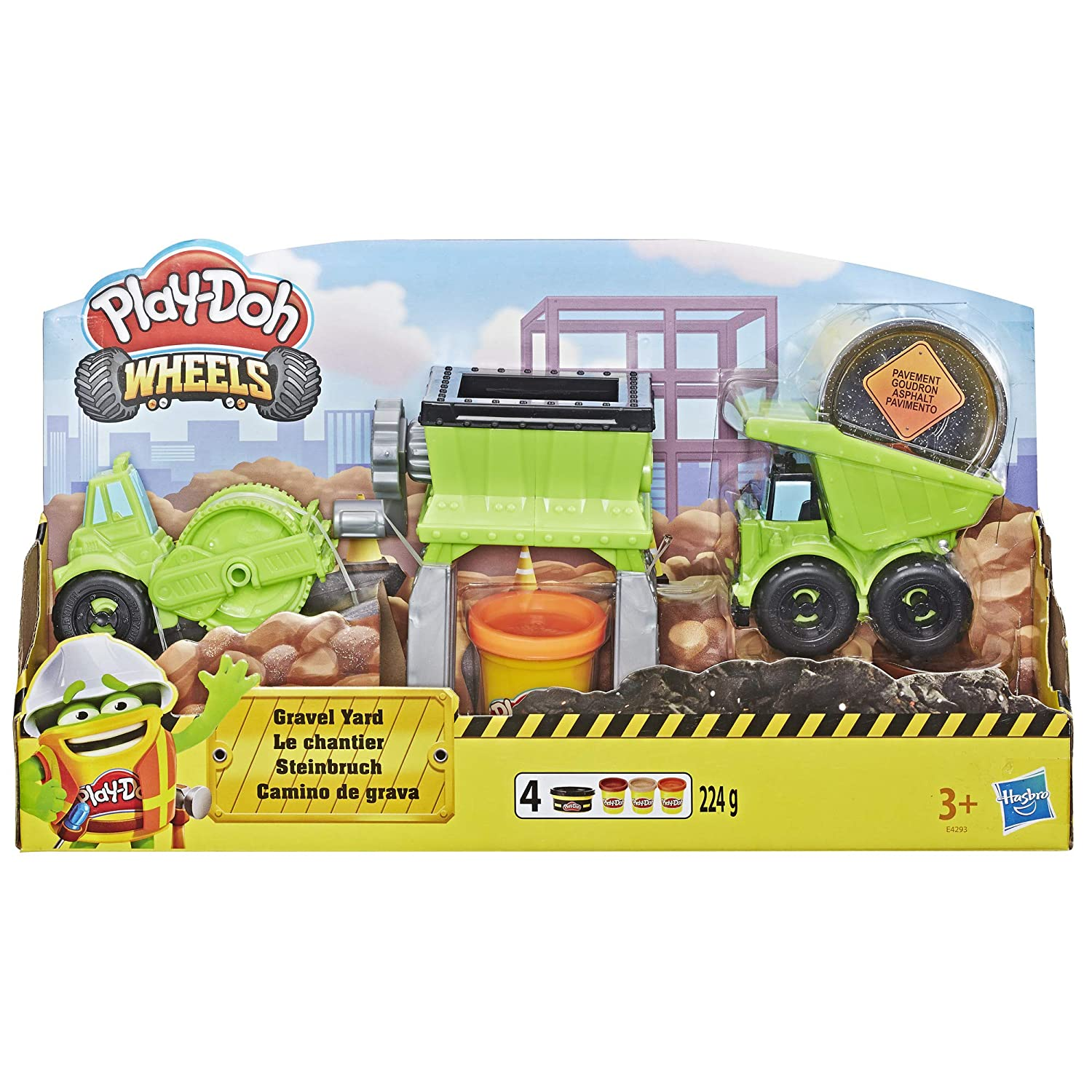 Amazon.com: Play-Doh Wheels Gravel Yd Construction Toy with ...
