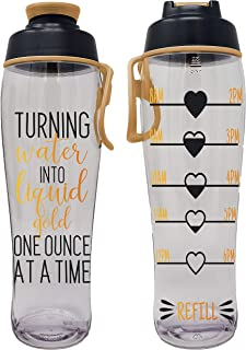 product image for Pregnancy Water Bottle - Best Gift for Pregnant Women - Perfect for Care Package or Box for Expecting Moms - Great Gifts for Any Trimester - BPA Free w/ Flip Top Cap (Liquid Gold Tracker, 30 oz.)