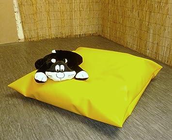 Letto Ecopelle Giallo : Zippy ecopelle pouf cuscino da pavimento grande giallo 120 x 120