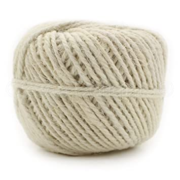 CleverDelights White Jute Twine - 50 Yards - 2mm Diameter - Eco-Friendly  Natural Jute Rope String