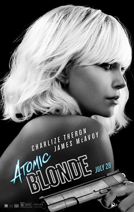 ATOMIC BLONDE CHARLIZE THERON ORIGINAL CANVAS PRINT READY TO HANG!!!