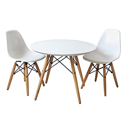 Amazon.com: Buschman Set of Table and 2 White Kids Eames ...