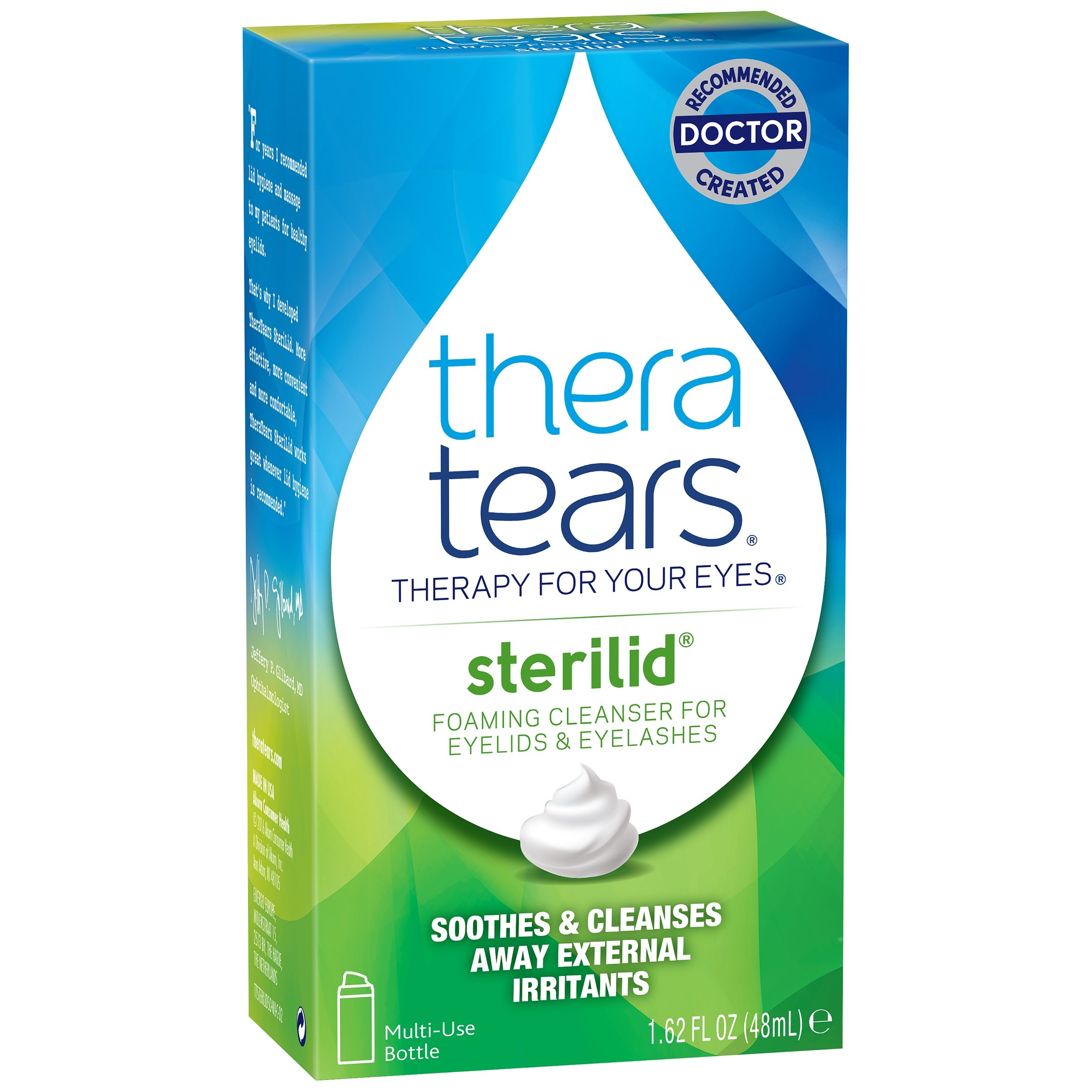 TheraTears Sterilid Eyelid Cleanser, Multi 4 Pack ( 6.48 FL OZ Total ) Thera-jS by Thera Tears