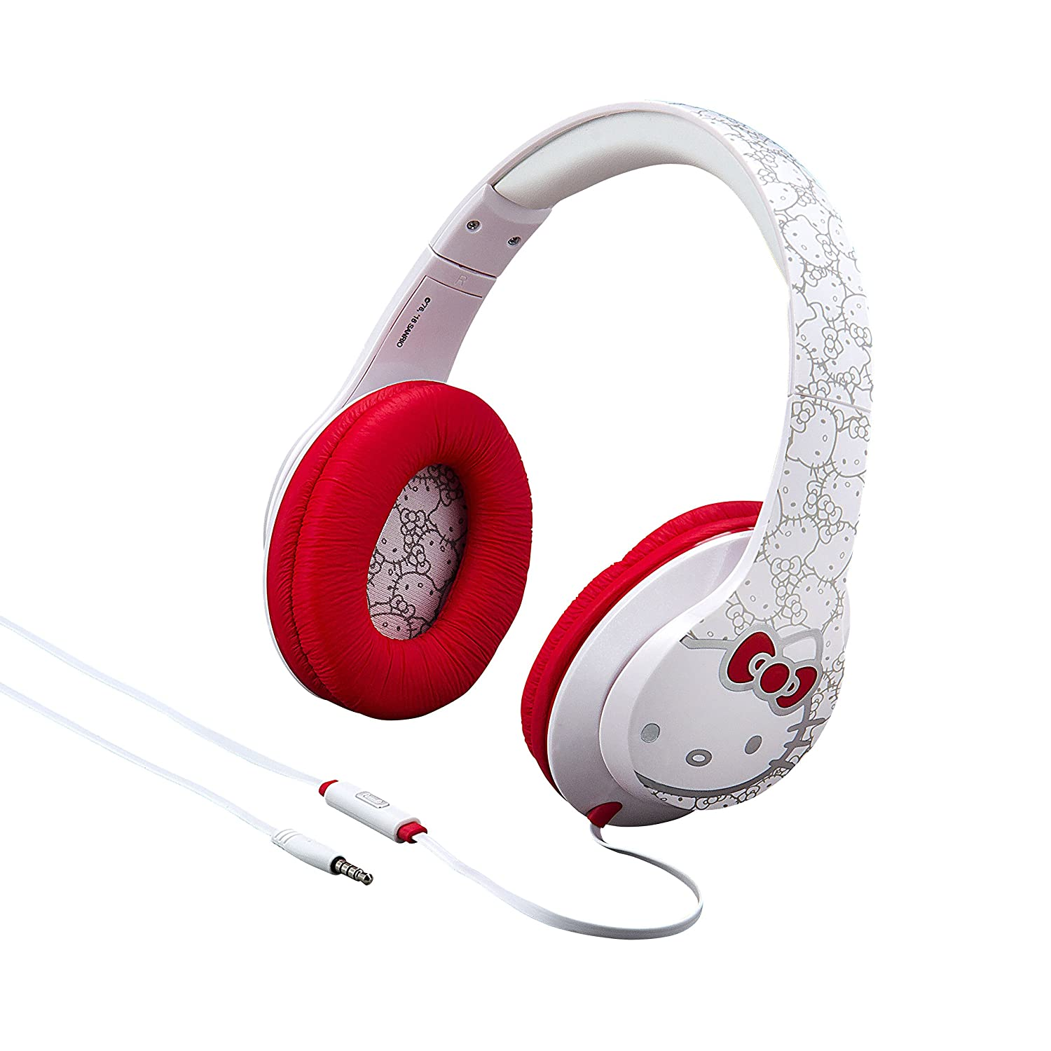 Hello Kitty Over The Ear Headphones with Built in in-line Microphone for Call answering