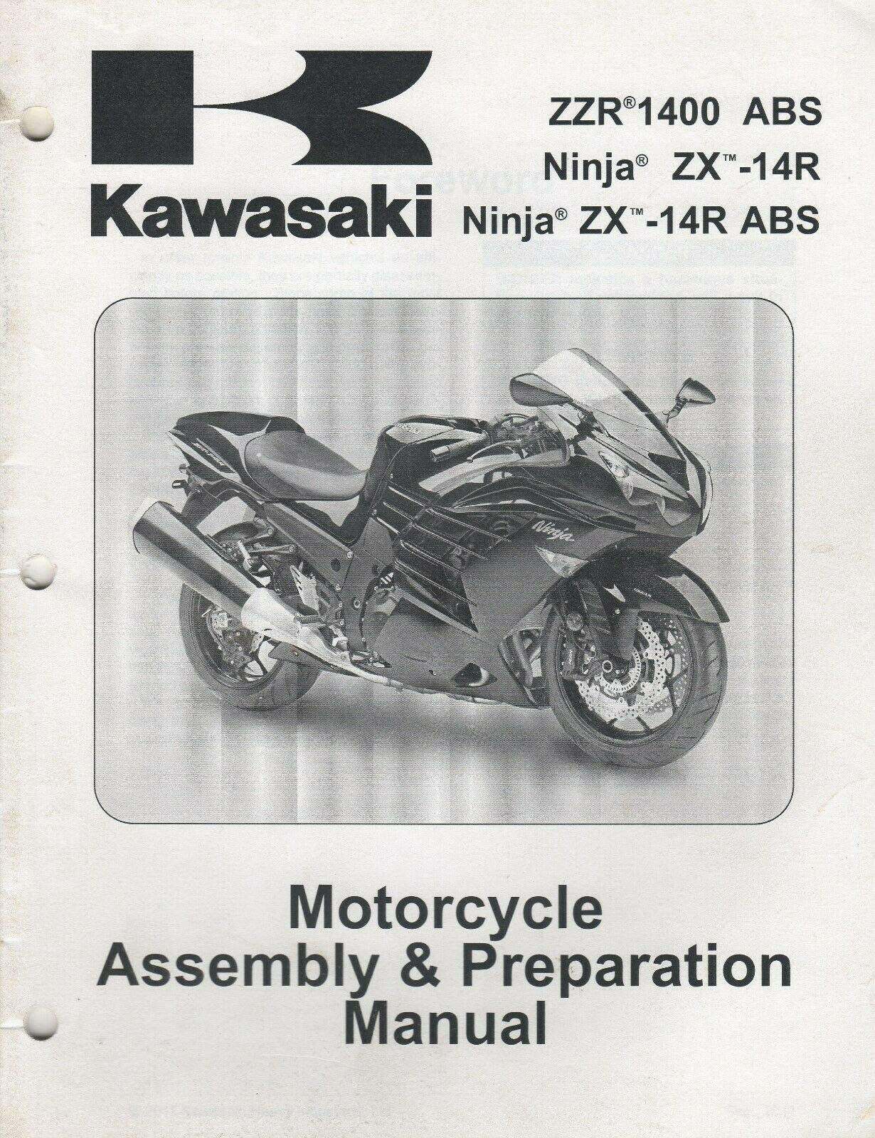 2012 KAWASAKI NINJA ZX-14R ASSEMBLY PREPARATION MANUAL 99931 ...