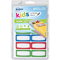Avery 0.75 x 1.75 Inches Kids Durable Labels, Assorted, Pack of 60 (41441)