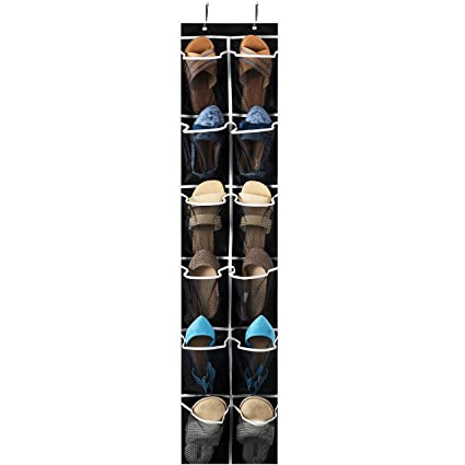 Perfect Zober Over The Door Shoe Organizer   12 Mesh Pockets, Space Saving Hanging  Shoe Holder