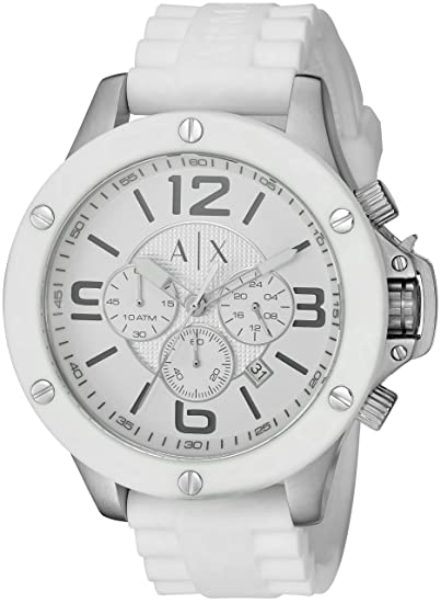 f375a581da4f Armani Exchange de los hombres ax1525 Reloj de cuarzo silicona ...