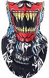 Masque Tour de cou Ski Moto Chauffant Protection Visage Nez Bouche Multifonction Polaire Respirant Motifs Tête de Mort Impression Crâne Toussaint Mascarade Hiver Pêcher Sports Extérieur Homme Femme