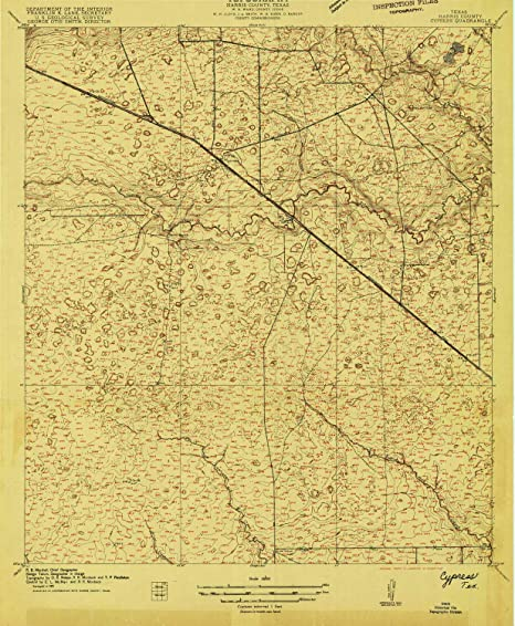 Map Of Texas 1915.Amazon Com Yellowmaps Cypress Tx Topo Map 1 24000 Scale