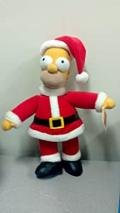 "The Simpsons 15"" Plush Homer As Santa By Applause"