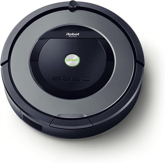 iRobot Roomba 865 - Robot Aspirador Óptimo para Pelo de Mascotas, Potencia Succión 5 Veces Superior y Cepillos de Goma Antienredos, Sensores Dirt Detect, para Suelos Duros y Alfombras, Programable: Amazon.es: Hogar