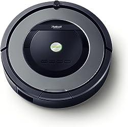 Robot Aspirador IRobot Roomba 865 - Robot Aspirador, Sistema de Limpieza Antienredos, Sensores de Suciedad Dirt Detect, Todo Tipo de Suelos, Óptimo para el Pelo de Mascotas, Programable, Gris