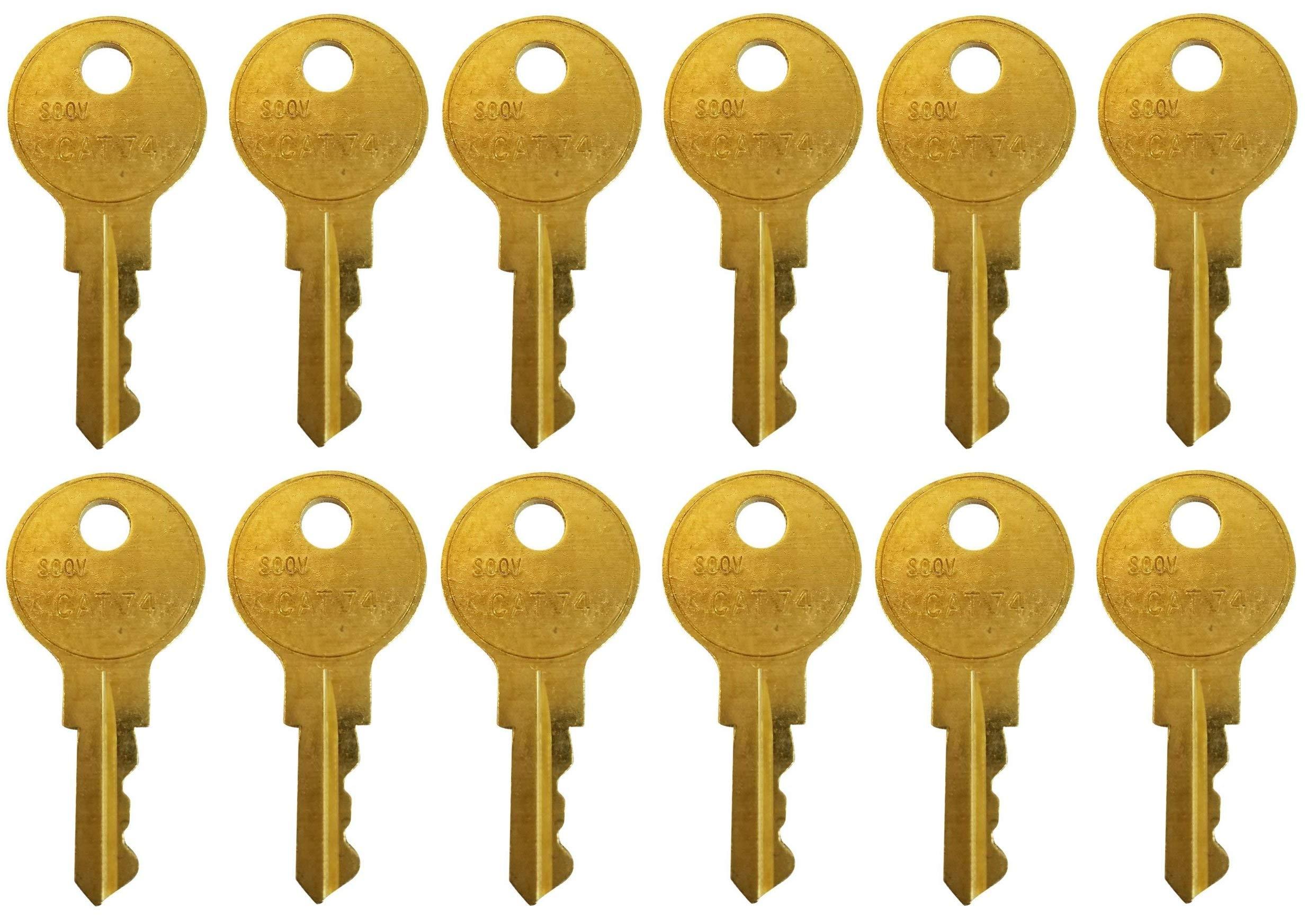 For Your Janitor Bobrick Cat-74 Dispenser Key - 12 Pack of Keys