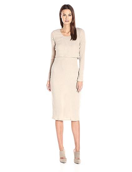 6882e568d04 MINKPINK Women s Maxi Cut-Out Layered Midi Dress  Amazon.in ...