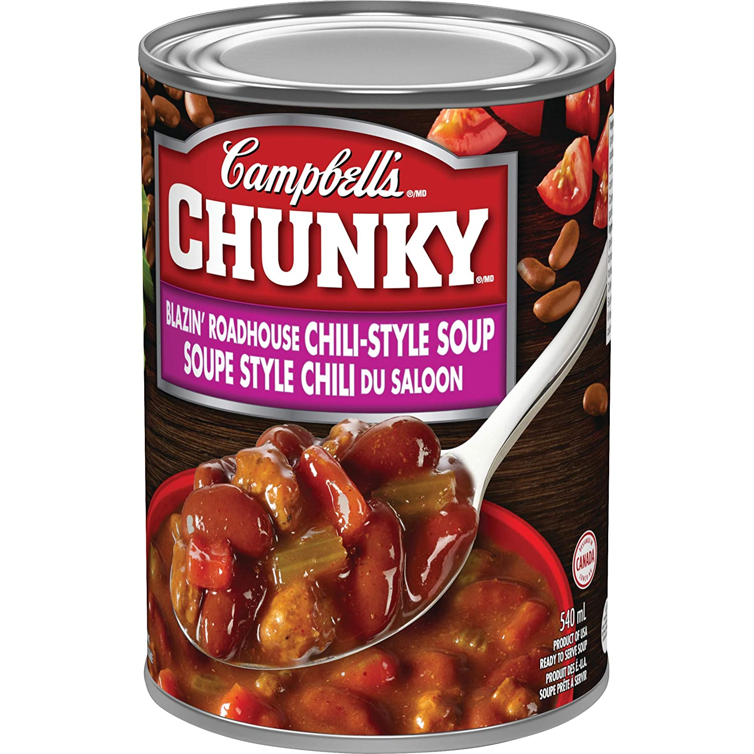 Campbell S Chunky Pub Inspired Blazin Roadhouse Chili Style Soup 540 Ml Imported From Canada Amazon In Grocery Gourmet Foods