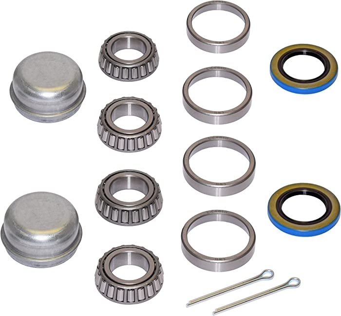 Pair of Trailer Bearing Repair Kits for 1 Inch Straight Spindles
