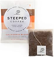 Steeped Coffee Single-Serve Packs - Just + Water - Direct Trade, Hand Roasted, Specialty Grade - Nitro Sealed, Eco-Friendly