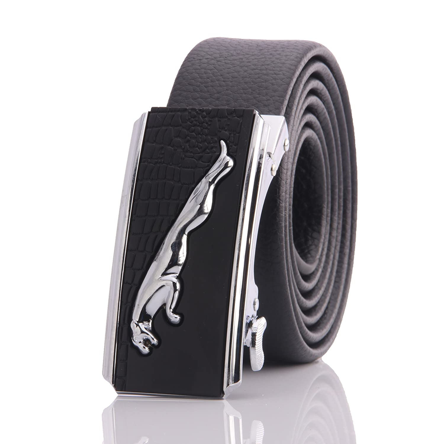 Amedeo Exclusive Designer Clothing Mens Stainless Buckle Genuine Leather Belts