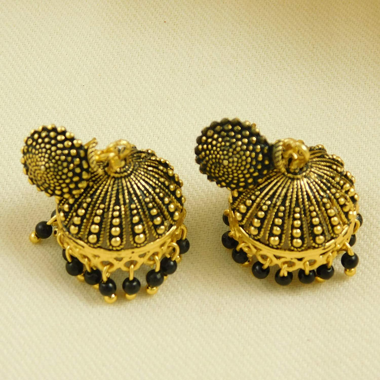 ShoppingHUB Get Closer Traditional Bollywood Goldplated Antique Jhumki Drop Dangle Earrings Jewlery