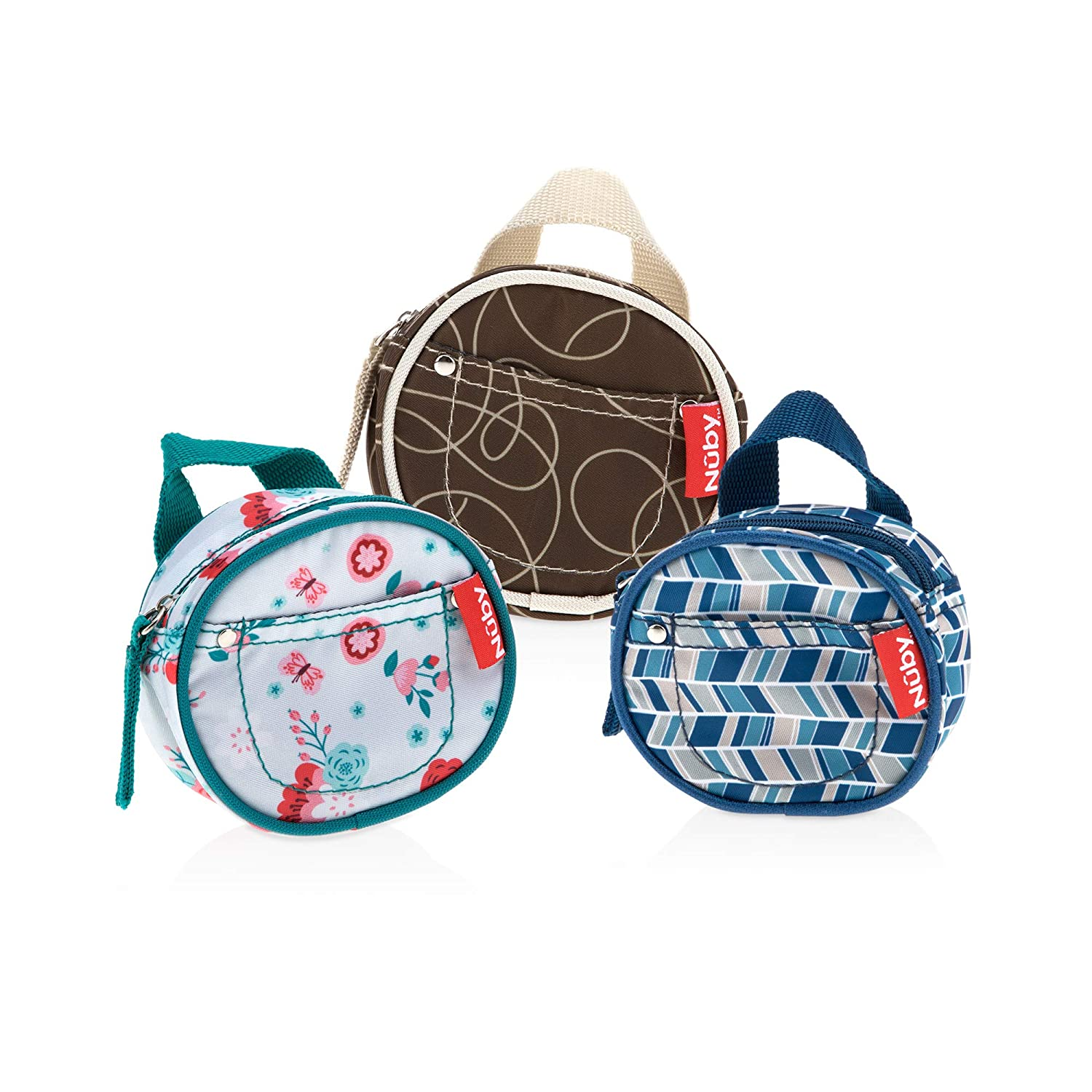 Set of 3 Nuby Pacifier Hygienic Paci-Pouch Combo for Travel