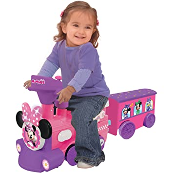 Amazon.com: Disney Minnie Mouse 2-in-1 battery-powered tren ...