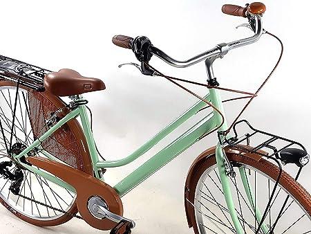 Bicicleta Mujer Retro Vintage Bici de Paseo Ruedas 28″ con Cambio ...
