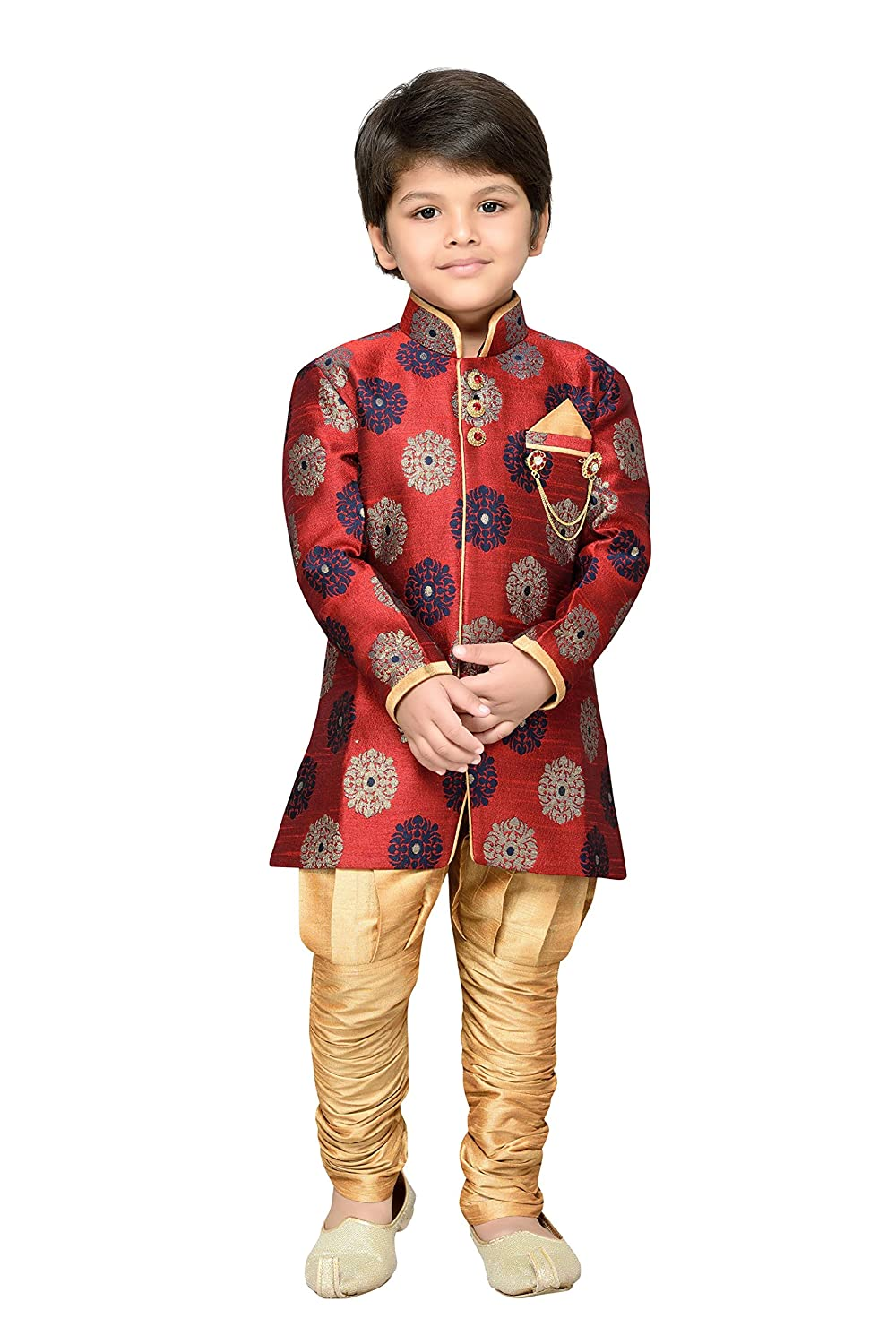 AJ Dezines Kids Indian Ethnic Sherwani Suit Set for Boys 7001-$P
