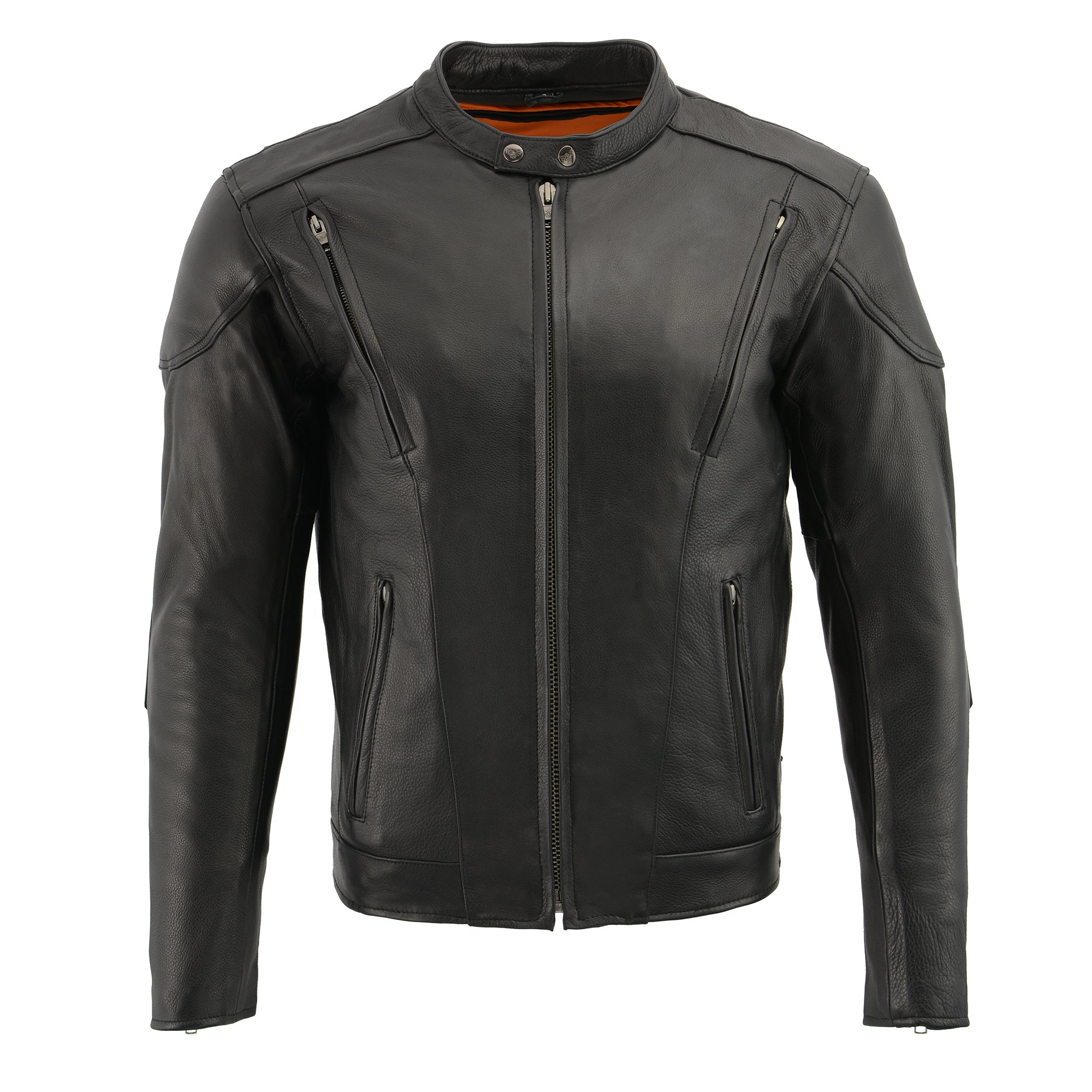 Milwaukee Leather Men's Side Lace Vented Scooter Jacket (Black, 5X-LargeTall) by Milwaukee Leather (Image #3)