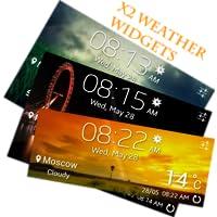 Beautiful X2 Weather Widgets