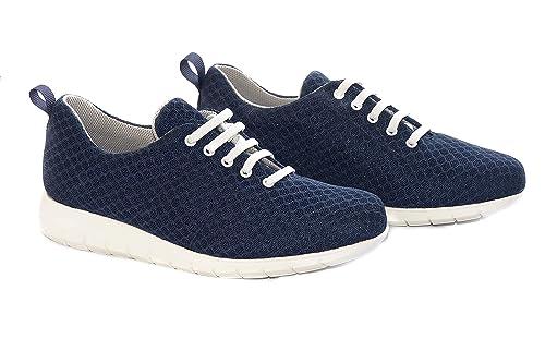 Zapatillas cómodas Mujer Marca Oneflex - Calzado de Confort, liviano y Antideslizante- Forro Coolmax- Color Marino: Amazon.es: Zapatos y complementos