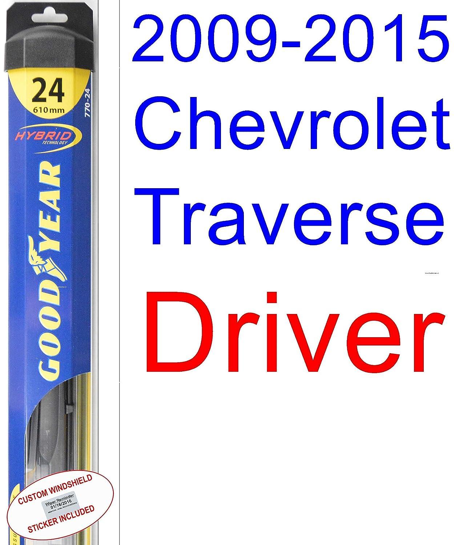 2009 - 2015 Chevrolet Traverse hoja de limpiaparabrisas de repuesto Set/Kit (Goodyear limpiaparabrisas blades-hybrid) (2010,2011,2012,2013,2014): Amazon.es: ...