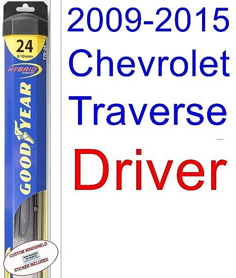 2009 – 2015 Chevrolet Traverse hoja de limpiaparabrisas de repuesto Set/Kit (Goodyear limpiaparabrisas