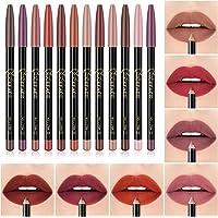 Beaupretty 12 Cores Lip Liner Pen Set Cores Sortidas Natural Lábio Maquiagem Lápis Labial À Prova D' Água E de Longa…