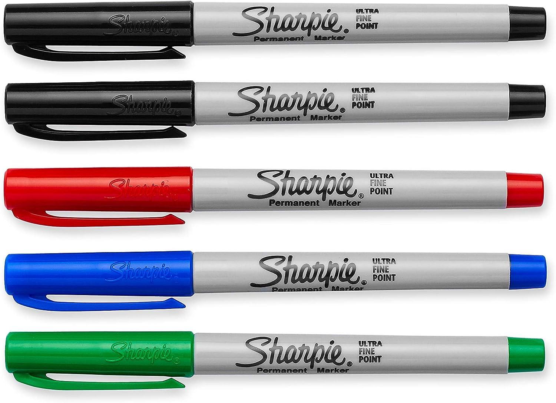 5Set Sharpie 37675PP Assorted Colors Ultra-Fine Point Permanent Marker
