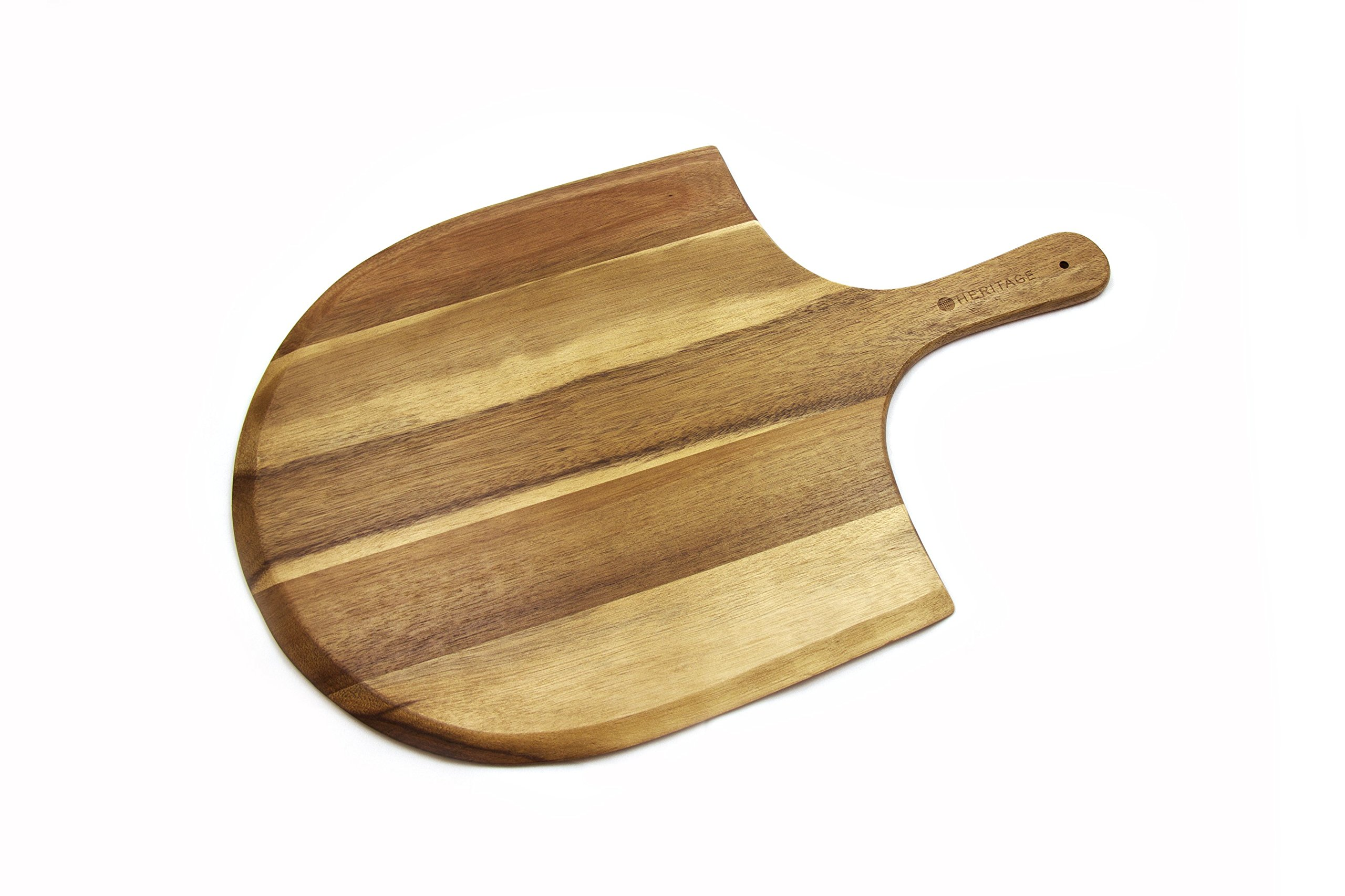 Heritage Acacia Wood Pizza Peel, Great for Homemade Pizza, Cheese and Charcuterie Boards - 22'' x 14''