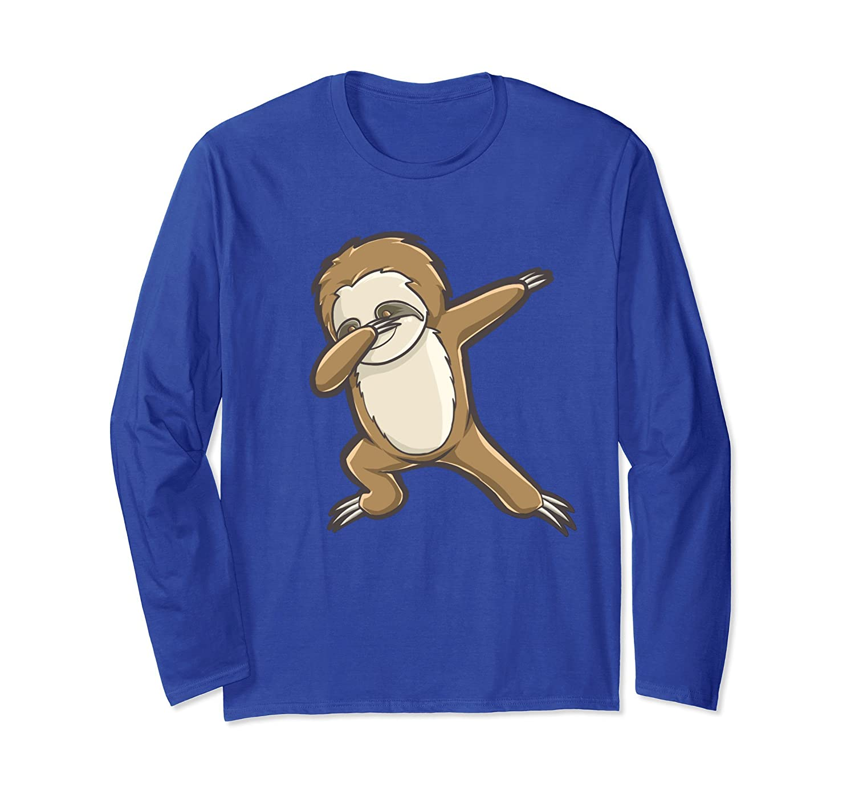 Funny Dabbing Sloth Long Sleeve T-Shirt Dab Dance-alottee gift