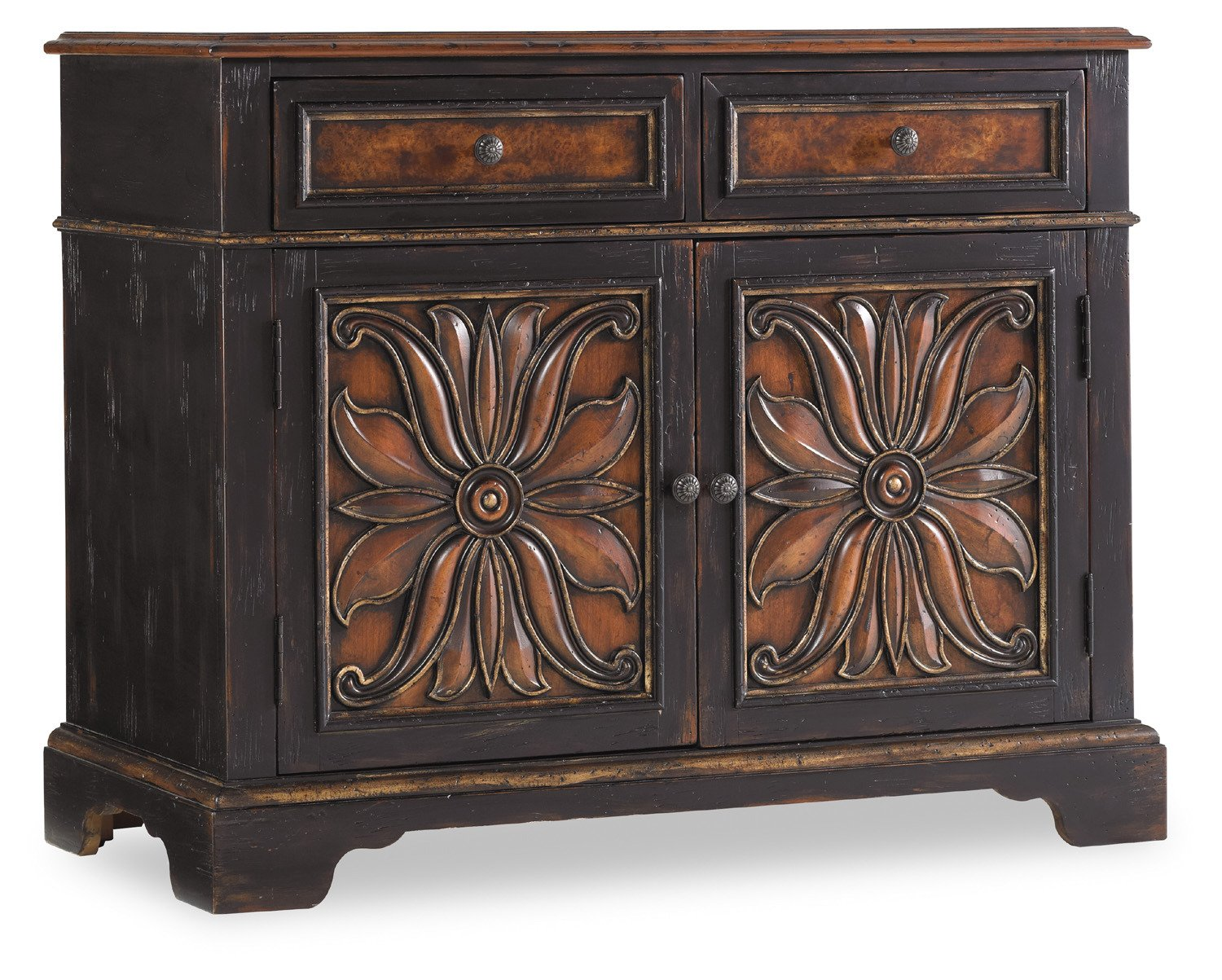 Amazon.com: Hooker Furniture Grandover Two Drawer Two Door Chest: Kitchen U0026  Dining