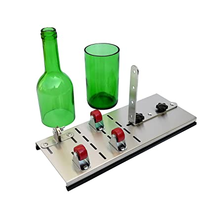 Mopei botella de cristal Cortador, cortador de acero inoxidable para botella de vino para cerveza