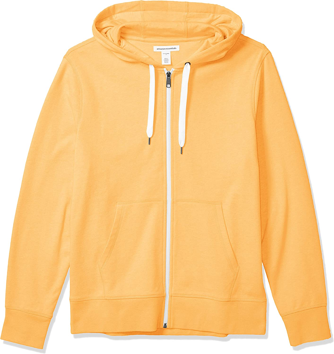 Essentials Men's Lightweight French Terry Full-Zip Hooded Sweatshirt: Clothing