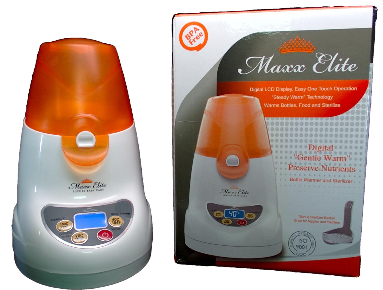 Maxx Elite ''Digital Gentle Warm'' Bottle Warmer & Sterilizer w/''Steady Warm'' and LCD Display (Orange) by Maxx Elite (Image #3)