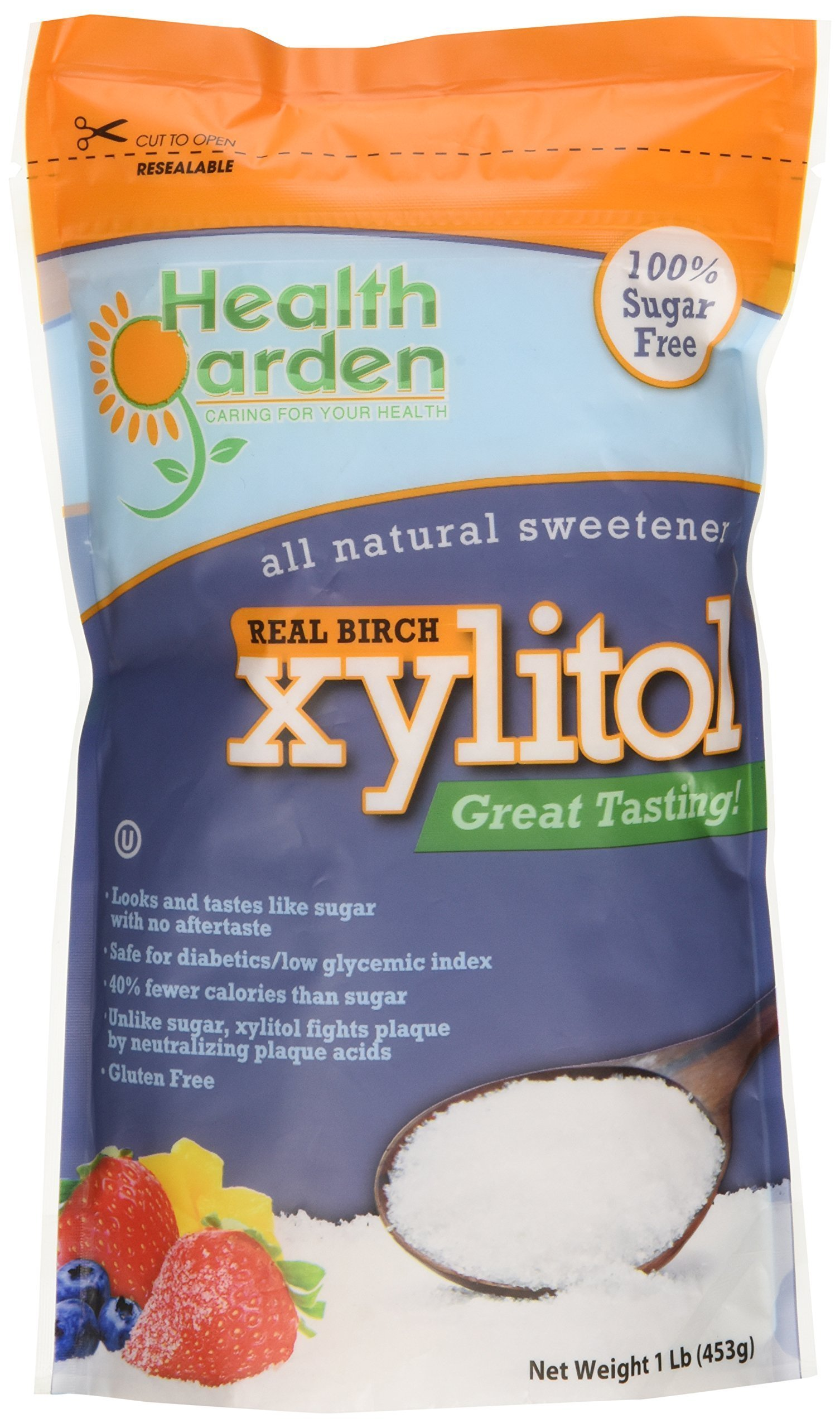 Health Garden Xylitol Sweetener, 1 lb (Not from Corn)