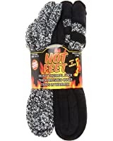 Hot Feet Men's 2 Pairs Heavy Thermal Socks - Thick Insulated Crew for Cold Weather; Size: 6-12.5
